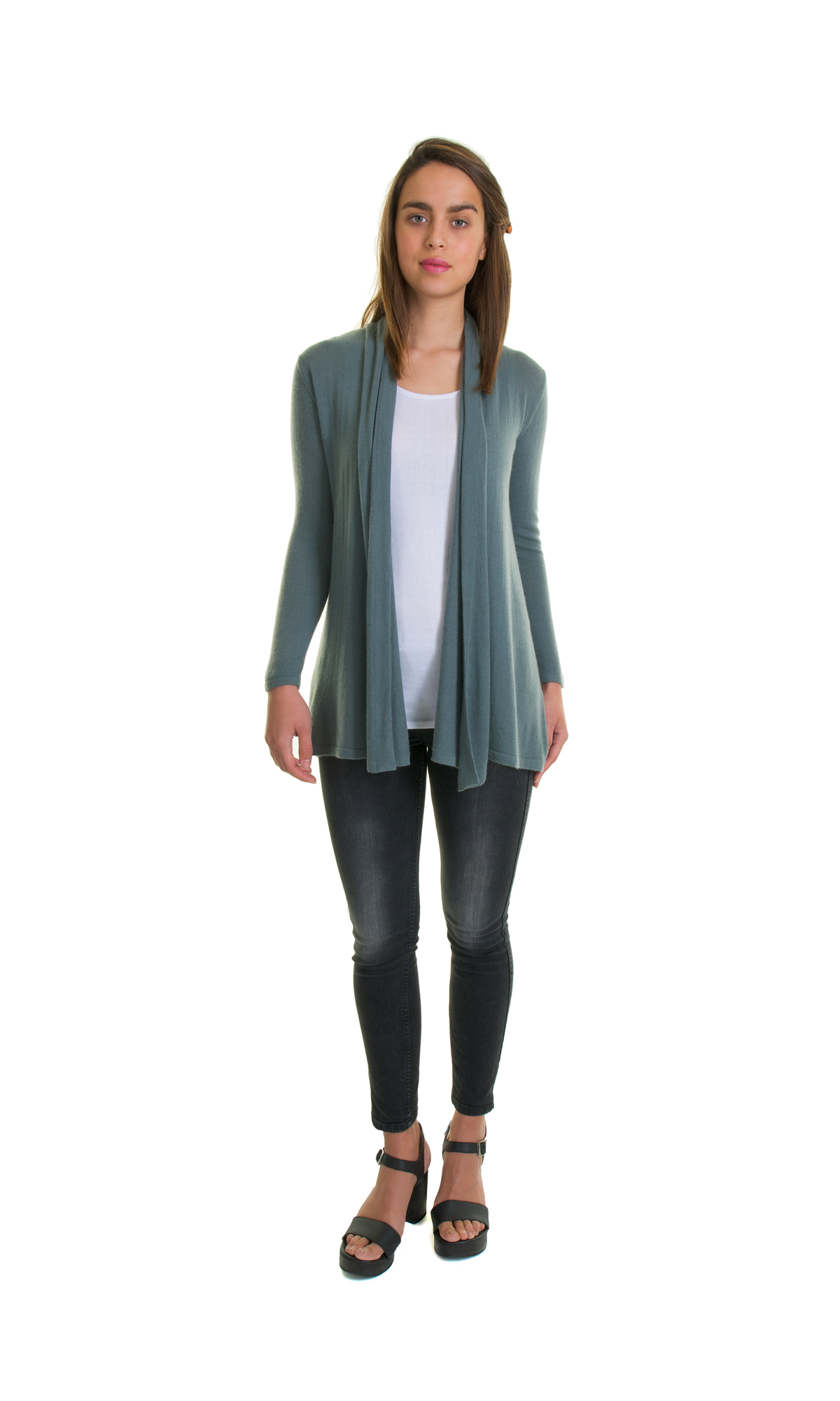 pattyboutik zip cardigan up wrap drape marled drapes