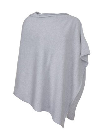 Silver Cotton Poncho